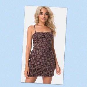 MOTEL Selah Mini Dress in Chinese Moon